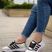 Текстильные кроссовки в стиле Adidas