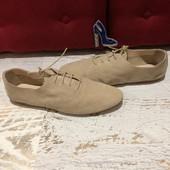 Туфлі-мокасіни,із натуральної замші,від Minelli,розмір 36