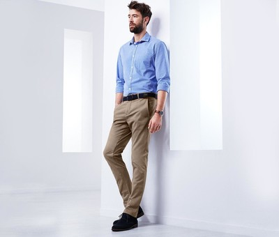 9ab54f1ae31e Классные брюки из хлопкового твила в стиле чино от ТСМ Tchibo размер укр 50  - Фото