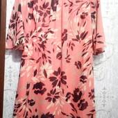 Лёгкое шифоновое платье на подкладке 44-46р. наш