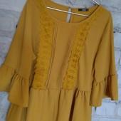 крутая блуза с воланами и рюшами,модный цвет