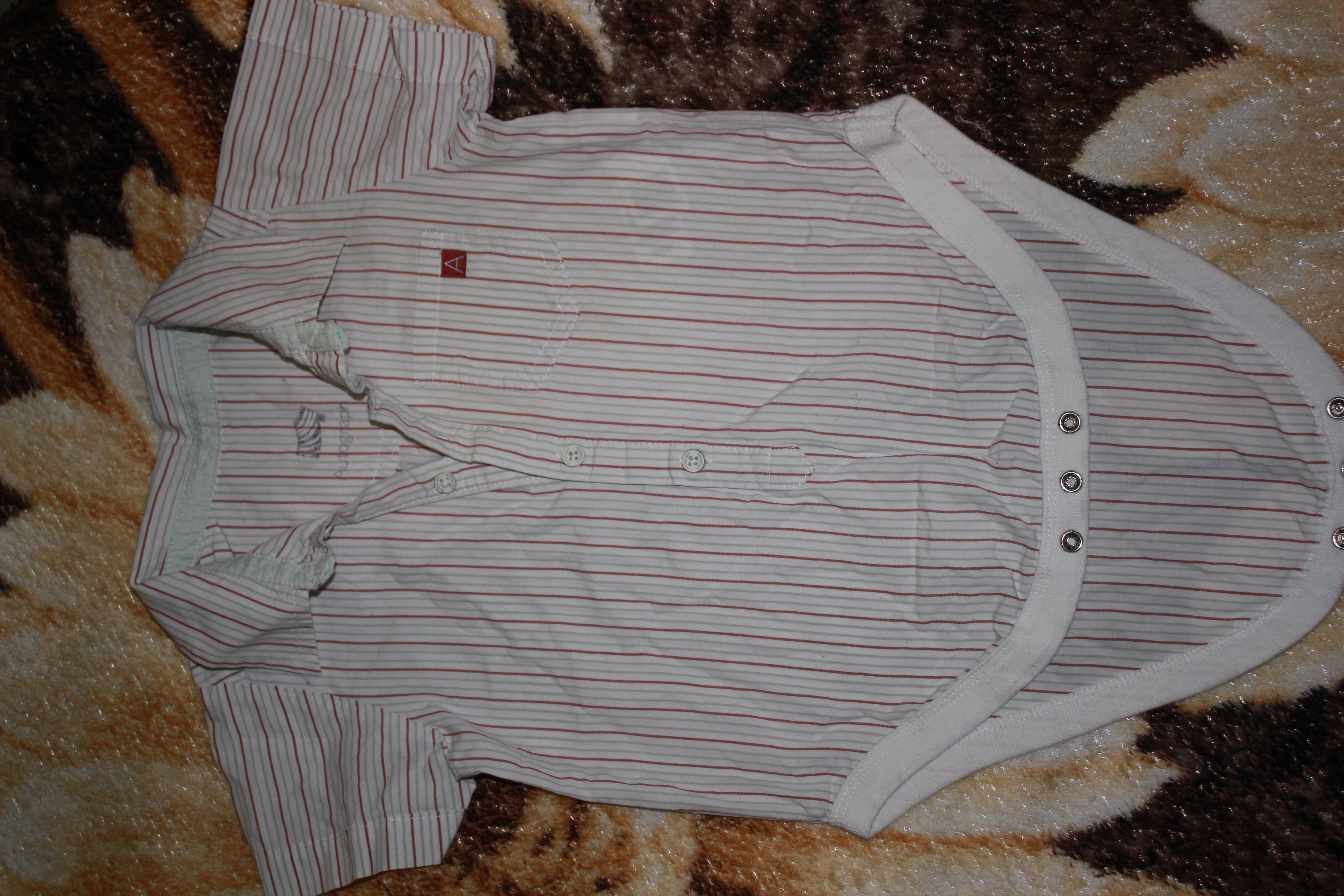 Рубашка- боди коттон идеальное состояние 12-18 месяцев + рюкзачок одним лотом
