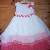 Самое красивое нежное платье. Многослойное, воздушное ! Размер 122 см., 5 -7 лет.