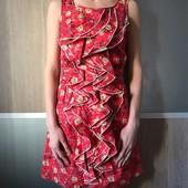 Платье с воланами. Ткань шелк / хлопок.