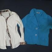 Одним лотом! катоновая рубашка+пиджачек-S-ка. Гарн. Стан.