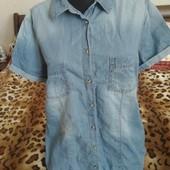 Фирменная джинсовая рубашка. Размер 42