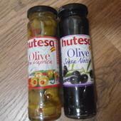 Оливки черные без косточки или зеленые с паприкой(на выбор одни) Hutesa Senza Noccioli, 140 г