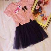 Шикарні плаття  для дівчаток.Поєднання гіпюра, фатину, перлинок, брошки, Якість супер.Одне на вибір.