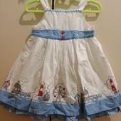 Красиве коттонове платтячко на 9-12міс(89см)