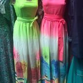 Шифоновое женское платье, качество супер! Размеры 42, 44.