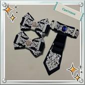 Супер набор в школу галстук и две заколки! !!!лот 1 набор.