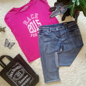 Батальный лот, джинсовые Капри Denim  +футболка 100%коттон!!!