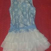 Очень красивое платьеце для девочки 7-8 лет
