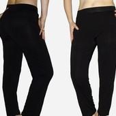 Черные брючки-лосины с карманами на пышные формы, XL-6ХL