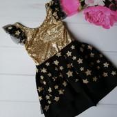 Нарядное платье на праздник на 7-8 лет