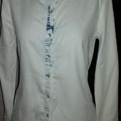Джинсовая бело-синяя рубашка Denim Co