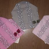Нереально красивые трикотажные шапочки для девочек. Польша! Размер 1-5 лет