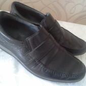Кожаные туфли -мокасины,читаем описание