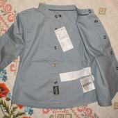 Последние.Kiabi Франция качественная Джинсовая рубашка 100% хлопок Ростовка Есть отзывы