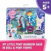 Набор my little pony Rainbow Dash - glitter pony & equestria girls doll