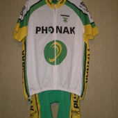 Фирменный велокостюм Phonak, разм. Xl, качественный, мерки есть