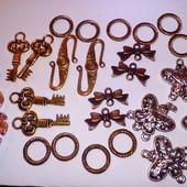 Лот для рукодельниц: Фурнитура для изготовления бижутерии. В лоте все фото.