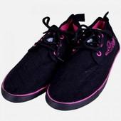 Легкие Кеды черные на шнуровке, размеры 36-41