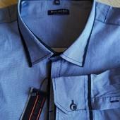 Рубашка мужская новая 5XL . Смотрите замеры.