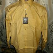 Мужская горчичная рубашка Versace с длинным рукавом р 39/176