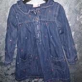 платье джинсовое 12-18 м. Miniclub