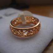 Ажурное кольцо медсплав, покрытие золотом РО 585 пробы (р.20)
