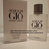 Элегантный и свежий. Он сводит с ума женский пол-Armani Acqua di Gio mеn! 100ml!