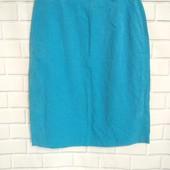 Фирменная льняная юбка на подкладе Gerry Weber, made in Germany