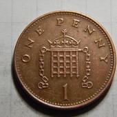 Монета. Великобритания. 1 пенни 1998 года.