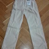 Класні штани Zara 55% лен+45% cotton на 6/7(122 см). Заміри
