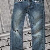 джинсы на мальчика, хорошее состояние, крепкий джинс, нюанс на фото 4, 5