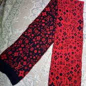 Класний зимовий шарфик для дівчинки. На два боки.