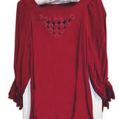 100% Шелковая Рубашка в бордовом цвете, фри-сайз
