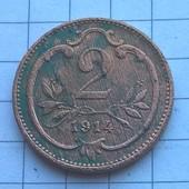 Монета Австрии 2 геллера 1914