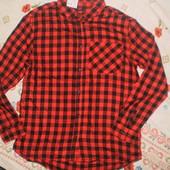 Kiabi Франция Рубашка в клетку в школу,вискоза, отлично на подарок -12 € на бирке