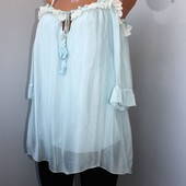 Качество!!! Нежнейшая, свободная, натуральная блуза от итальянского бренда