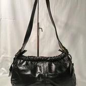 Винтажная сумка, натуральная кожа,черная, шикарная!