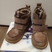 Демисезонные ботинки кожаные
