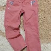 Яркие джинсы Couragekind с вышивкой+водолазка для модницы 3-4 лет, рост 98-104 см в идеале