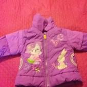 куртка на синтепоне на девочку