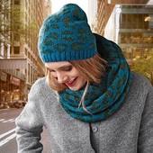 ☘ Теплый мягкий комплект: шапка и снуд от Tchibo( Германия), размер универсальный