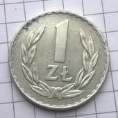 Монета Польши 1 злотый 1974
