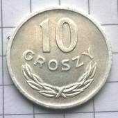 Монета Польши 10 грошей 1975