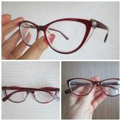 Модные имиджевые очки Лисички для зрения с диоптриями -2,5 на выбор