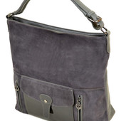 Стильная фирменная замшевая сумка